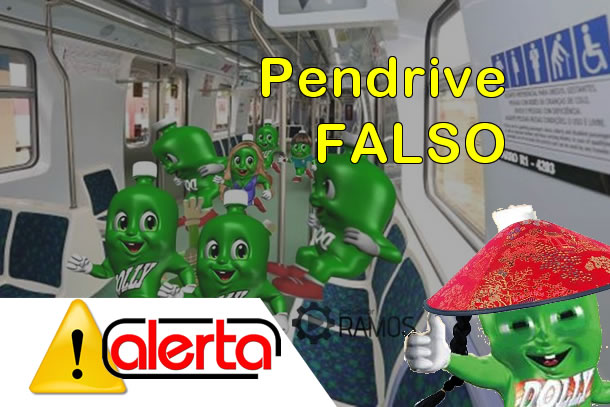Pendrive Falso do Trem ou Metrô de SP R$5,00 – Alerta !!! Golpe !!!
