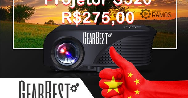 💥 Projetor LED S320 Review 📣 Gearbest.com