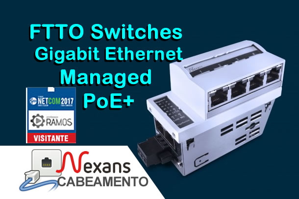 ⚡ Nexans – FTTO Switches (48VDC) Gigabit Ethernet  Managed PoE+  🔘 NETCOM 2017