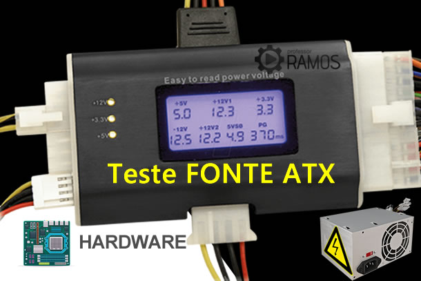 ⚡ Hardware Básico ⚡ Testador de Fonte ATX – Power Supply Tester ⚡