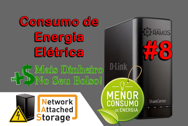 Consumo Elétrico do NAS D-LINK DNS 320L +2x HD Seagate IronWolf  | NAS Storage #8