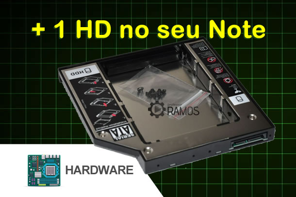 💻 Como instalar ➕ 1 HD ou SSD no seu Notebook já !!! HDD Hard Drive Caddy – Notebook com 3 Hds