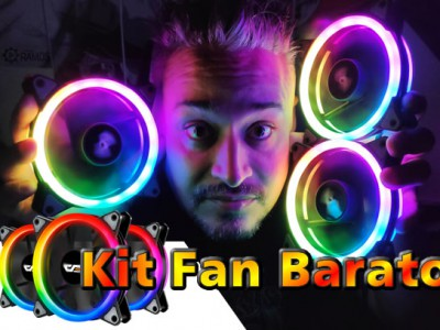 ❄️ Kit FAN Barato RGB com Controle Remoto Aigo 🌈 DarkFlash DR12 PRO  Fan 120mm RGB
