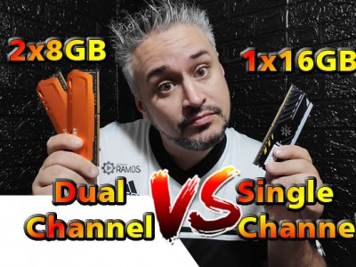 ⚡ SINGLE CHANNEL VS DUAL CHANNEL RAM ⚡⚡ 1 x 16GB VS 2 x 8GB DDR4